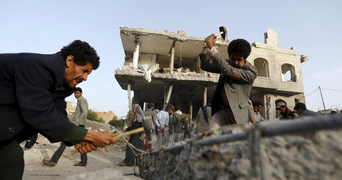Saudi-led airstrikes hit Yemen rebels in several cities