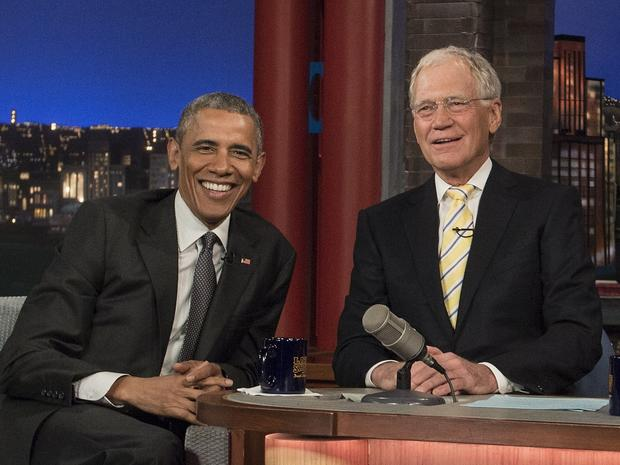 Top Obama moments on David Letterman since 2004