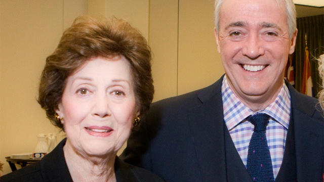 NPR's Scott Simon with his mother, ​Patricia Lyons Simon Newman.