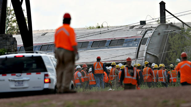 Amtrak train 188 derails