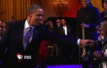 "President Obama sings ""Sweet Home Chicago"" with blues legend B.B. King"