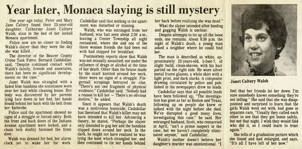 Janet Walsh newspaper article