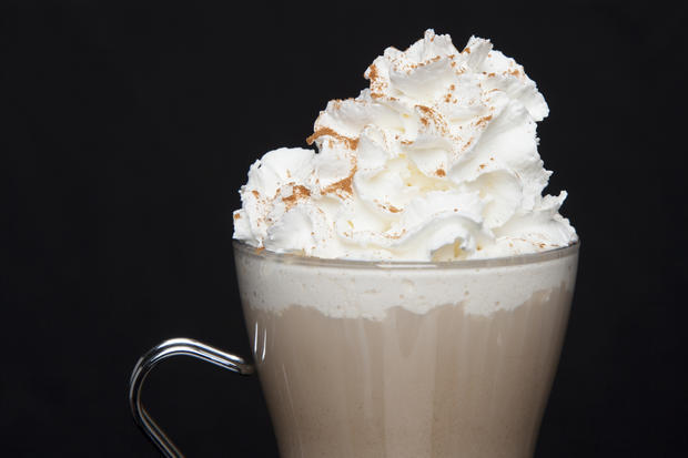whipped cream latte
