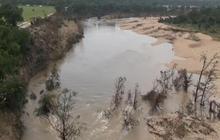 Drone's eye view of Texas flood damage