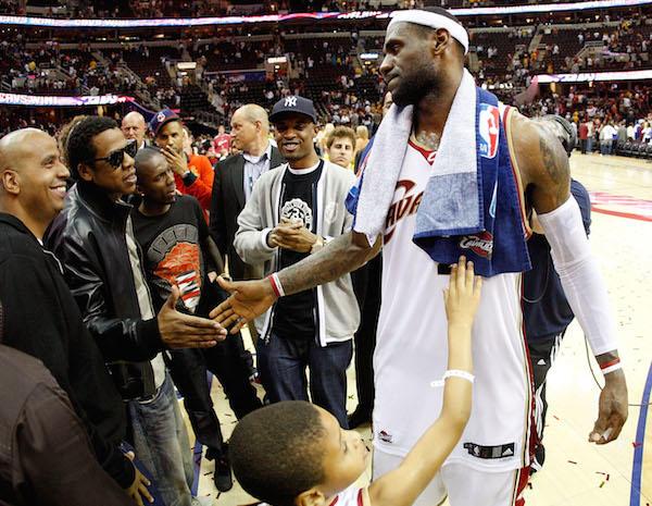 LeBron James has a secret handshake with Jay-Z - MVP vs MVP: Lebron James and Stephen Curry duke ...