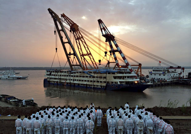 Chinese Cruise Ship Righted Chinese Cruise Ship The Eastern - Chinese cruise ship