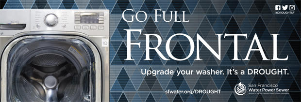 The San Francisco Public Utilities Commission is promoting water saving with some racy ads.
