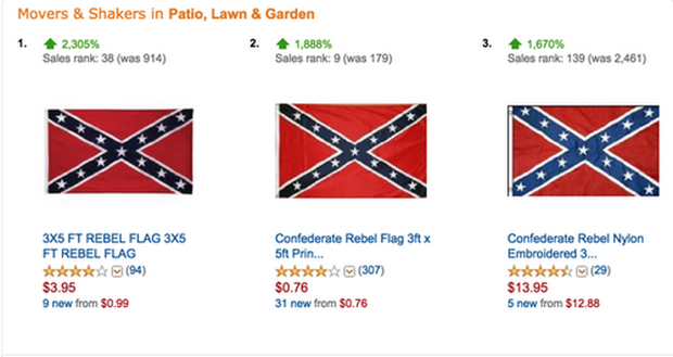 ecc2a93e5790 Confederate flag - Amazon - Confederate flag controversies and current  sightings - Pictures - CBS News
