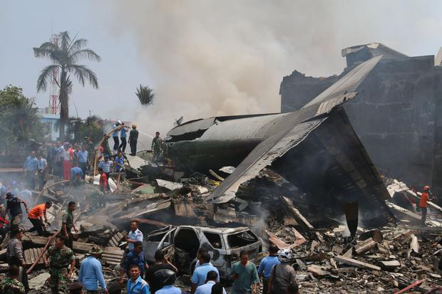 Horrifying Indonesia C-130 crash