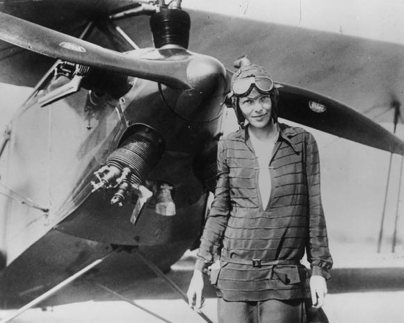 Aviator Amelia Earhart - Jimmy Hoffa, Amelia Earhart and