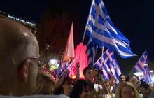 "Celebrations, anxiety after ""no"" vote in Greece"