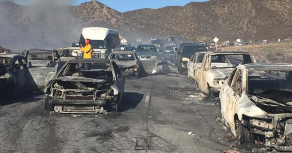 Cajon Pass Fire Map.California Wildfire Forces Motorists To Flee Cars On Highway To Save