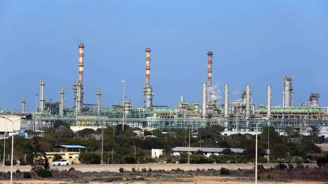 A general view of the Mellitah Oil and Gas terminal in western Libya, a joint venture between Italy's ENI and Libya's National Oil Company