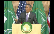 In Africa, Obama jokes he could win a third term