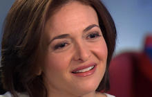 "Sheryl Sandberg pushes women to ""lean in"""