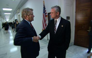 Kroft confronts a congressman