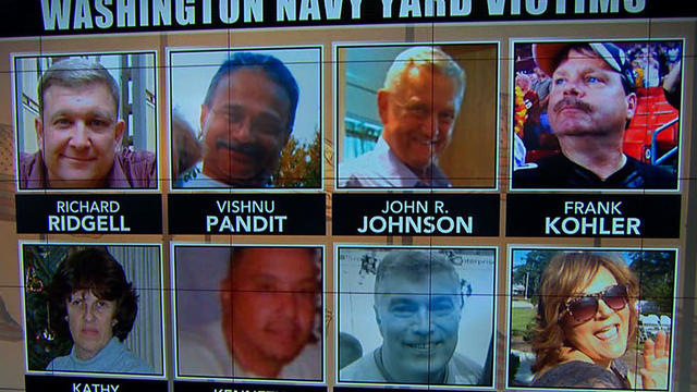 Navy Yard victims' families remember loved ones