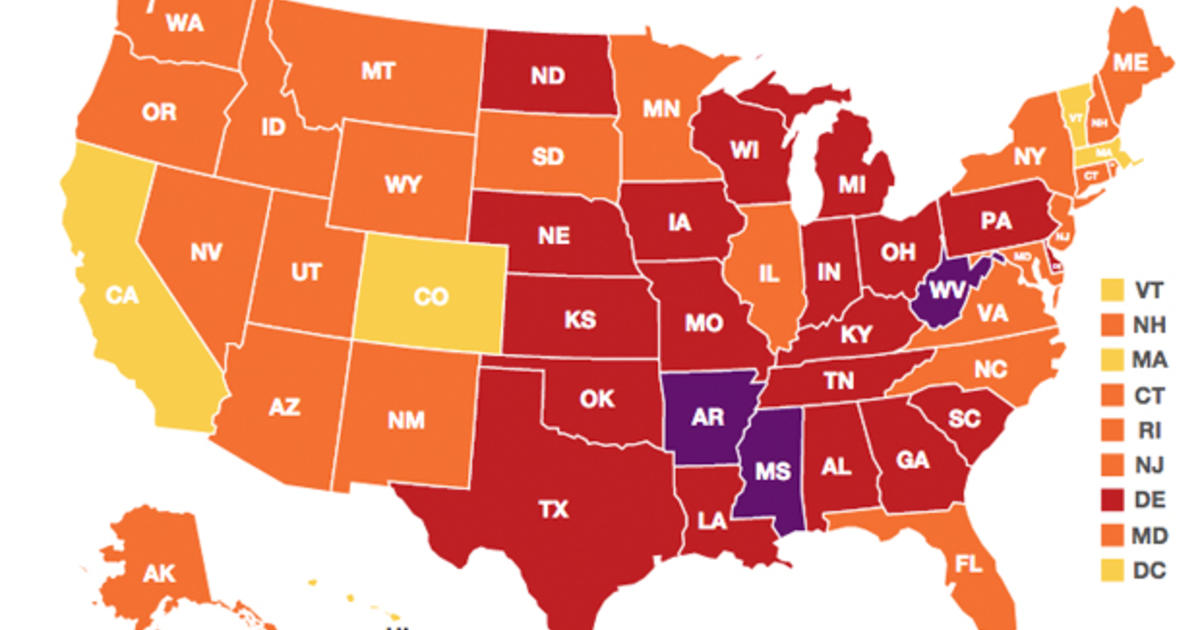 Little Sign Of Improvement In US Obesity Rates CBS News - Us obesity map 2015