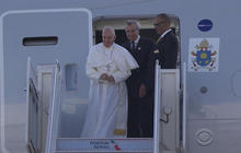 Pope Francis lands in New York