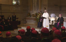 Pope Francis meets with U.S. bishops in Philadelphia