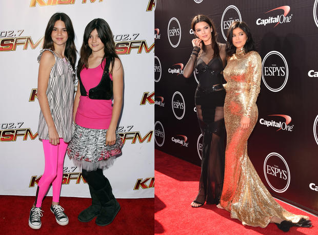 The Kardashians then and now