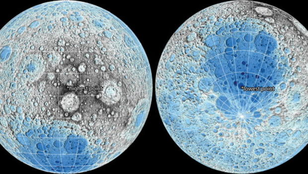 Lunar maps let you explore the moon like never before - CBS News