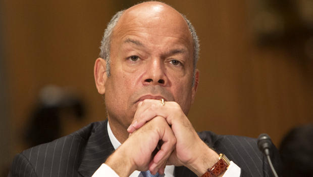 Homeland Security Secretary Jeh Johnson testifies before the Senate Homeland Security and Governmental Affairs Committee for a hearing on threats to the United States in Washington Oct. 8, 2015.