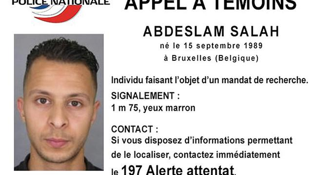 A handout picture shows Belgian-born Salah Abdeslam on a call-for-witnesses notice released by French Police Nationale information services Nov. 15, 2015.