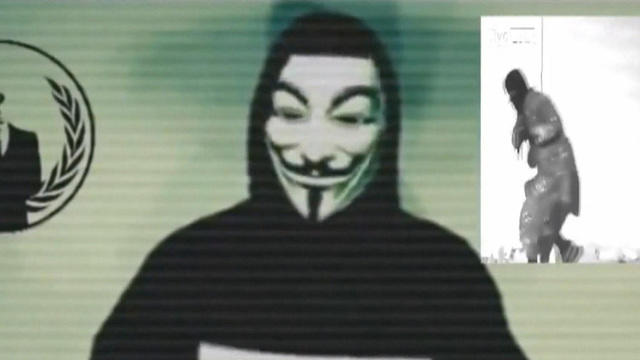 Hacker vigilante group Anonymous在线对抗ISIS