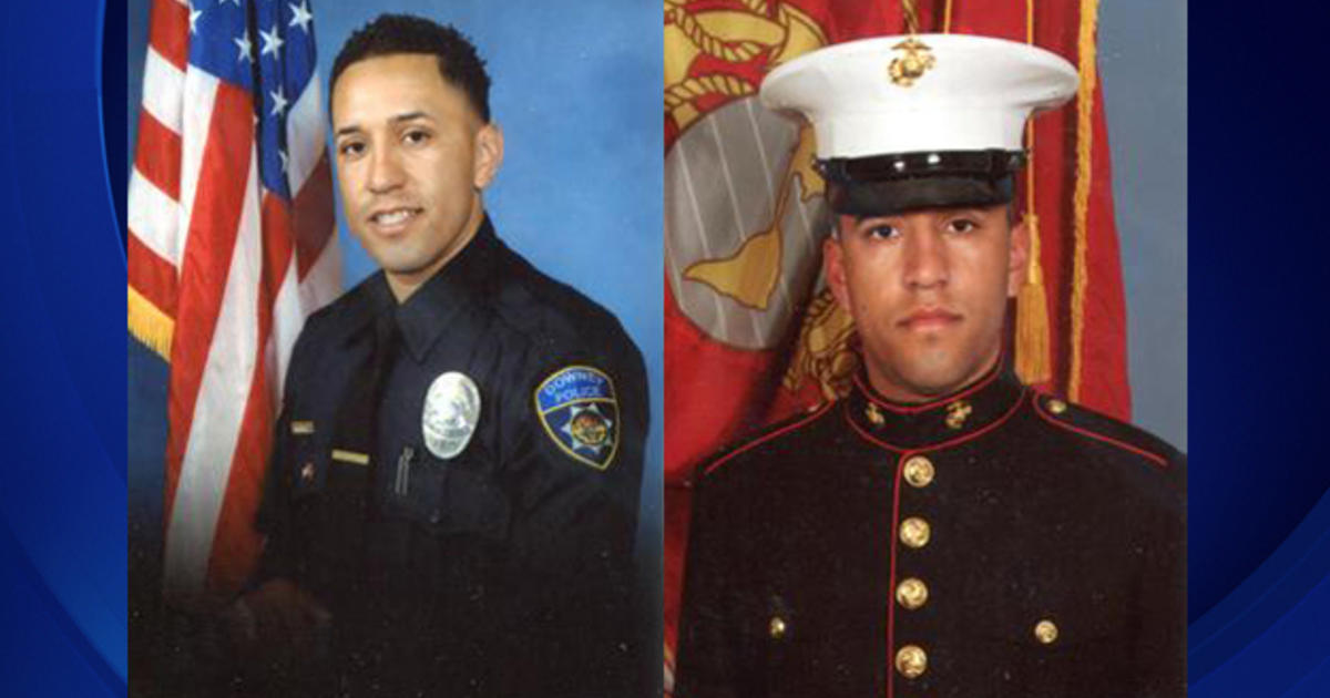 Three peopled ages 16 18 and 21 were arrested in fatal shooting of downey police officer - Police officer in california ...
