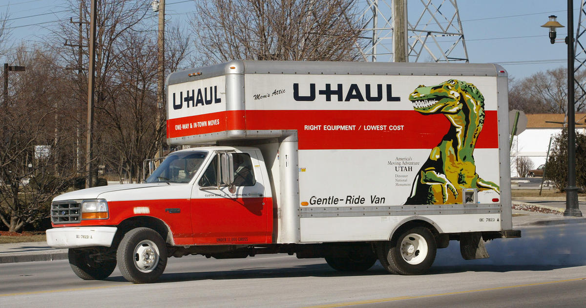 Don't Call The Police That Uhaul Truck Is Really UPS CBS News Inspiration Uhaul Rental Quote