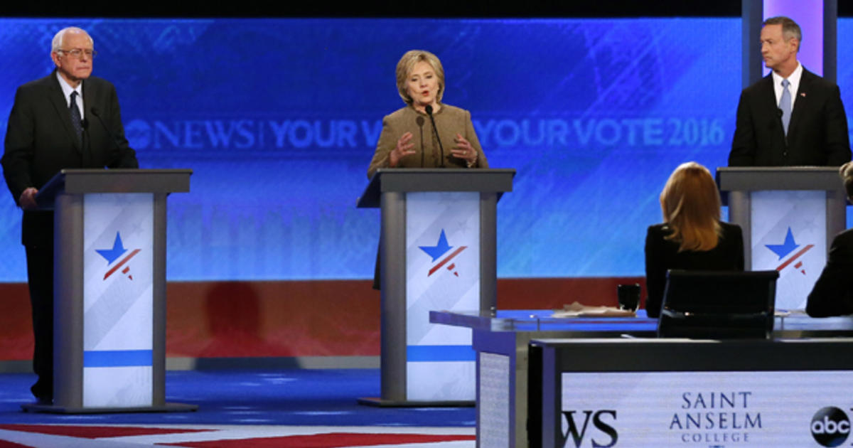 Democratic debate transcript: Clinton, Sanders, O'Malley in New Hampshire -  CBS News