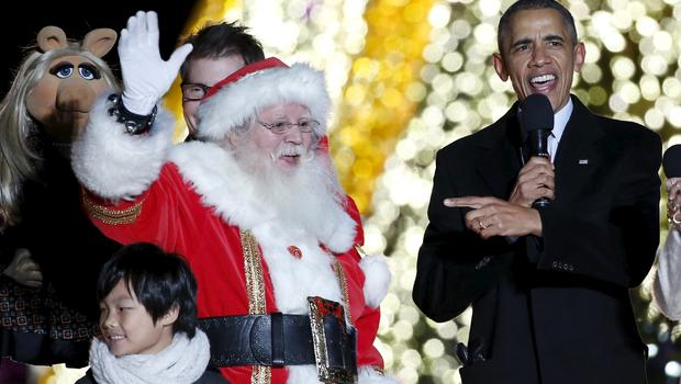 Image result for obama christmas at the white house image