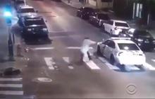 Surveillance video shows attack on Philadelphia police officer