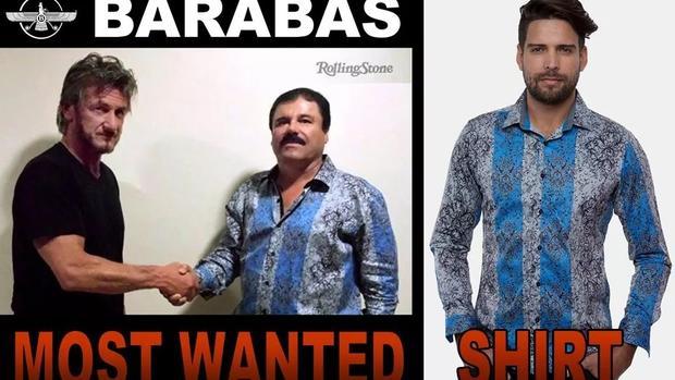 87cadb0d0e1d Most wanted shirt: L.A. company profiting off El Chapo's fashion - CBS News