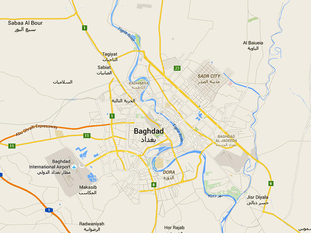 A map of Baghdad, Iraq