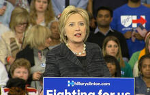 Hillary Clinton delivers speech in Cleveland, Ohio