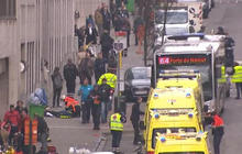 "American on Brussels subway explosion: ""Everyone dropped to the floor"""