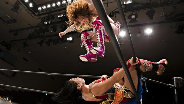 Japan's wild women wrestlers