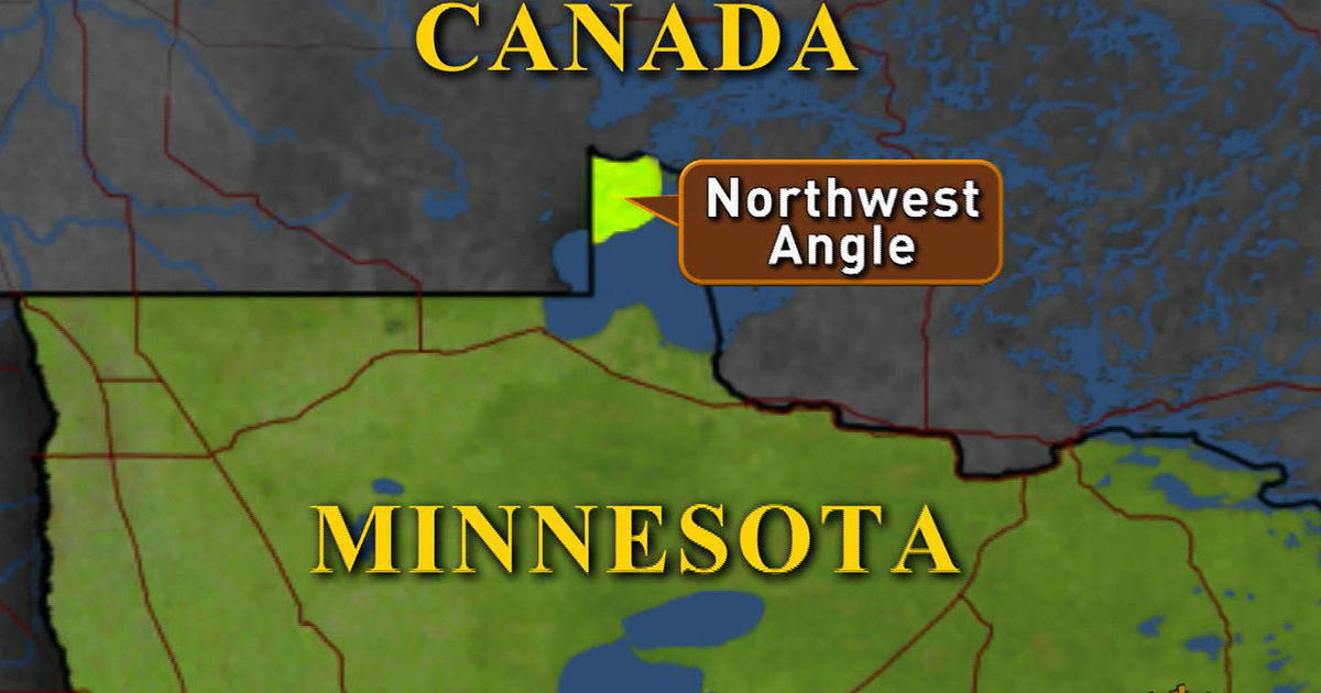Minnesota Canada Map.Minnesota S Northwest Angle An American Geographic Oddity Cbs News