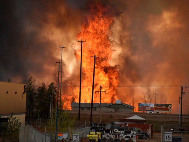 Massive Canadian wildfire