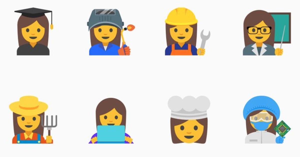 Google proposes 13 professional women's emoji - CBS News
