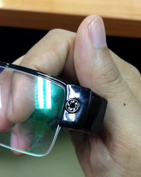 A set of glasses with a hidden camera used by students caught cheating in exams for admission to medical and dental faculties in Bangkok