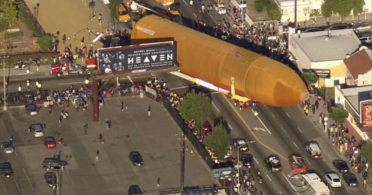 Massive Space Shuttle Fuel Cell Completes 16 Mile Trip Across L A