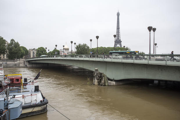 The Seine floods Paris