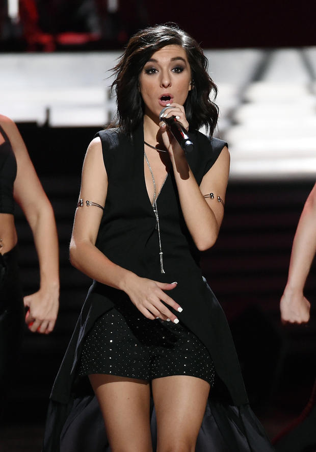Singer/songwriter Christina Grimmie performs at the 2015 iHeartRadio Music Festival at MGM Grand Garden Arena on Sept. 18, 2015, in Las Vegas, Nevada.