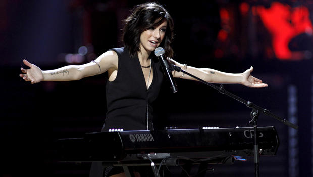 ​Macy's iHeartRadio Rising Star singer Christina Grimmie performs during the 2015 iHeartRadio Music Festival at the MGM Grand Garden Arena in Las Vegas, Nevada, on Sept. 18, 2015.