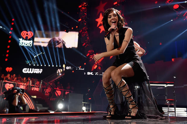 Singer Christina Grimmie performs onstage at the 2015 iHeartRadio Music Festival at MGM Grand Garden Arena on Sept. 18, 2015, in Las Vegas, Nevada.
