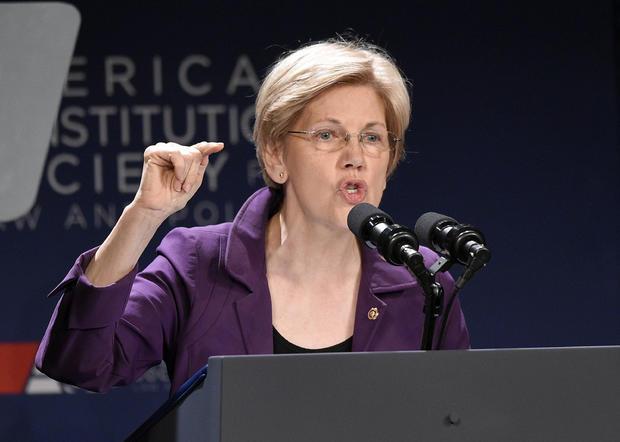 In this June 9, 2016, file photo, Sen. Elizabeth Warren, D-Mass., speaks in Washington. Warren is relishing her role as attack dog against Donald Trump.