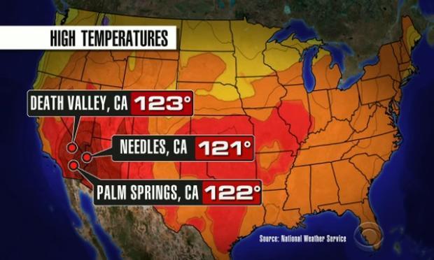Southwest Sizzles As Temperatures Surge To Dangerous Levels Cbs News